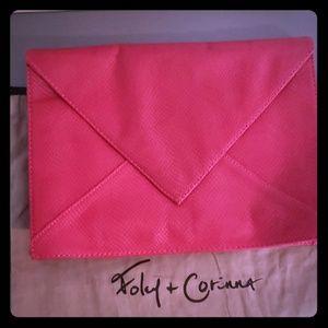 Foley and Corinna oversized raspberry envelope bag